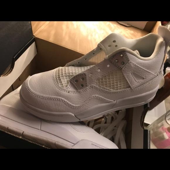 """official photos a7dd4 530b8 Air Jordan Kids Retro 4 BP """"Pure Money"""" NWT"""